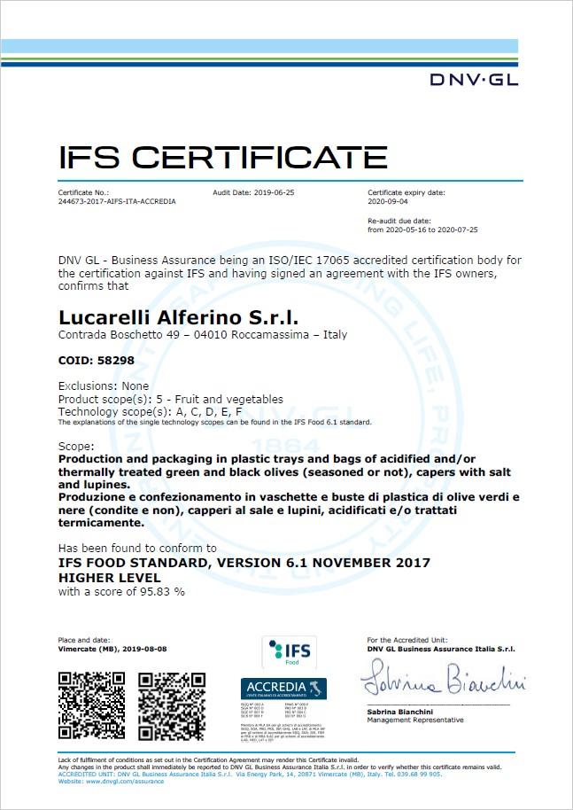 certificati-olive-lucarelli-distribuzione